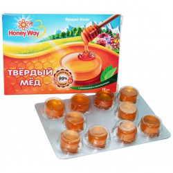 "Honey Way. Карамель медовая ""Твердый Мед"" с ментолом и эвкалиптом 30 гр."