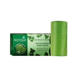 Biotique. Мыло для тела с базиликом и петрушкой Bio Basil and Parsley Revitalizing Body Soap 150 гр.