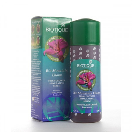 Biotique. Сыворотка Bio Mountain Ebony Fresh Growth Stimulating Serum для роста волос 120 мл.