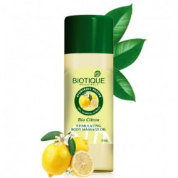 Biotique. Масло массажное Bio Citron Stimulating Massage Oil 210 мл.